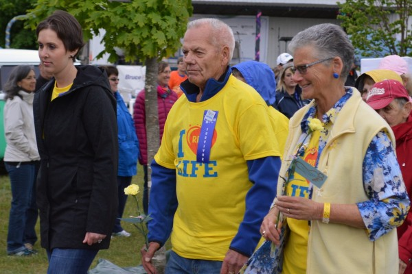 Participants at Relay For Life in Port Elgin. June 13th, 2014. Photo by Jordan MacKinnon.