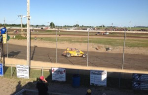 A two-seater topless Sprint Car at South Buxton Raceway. (Photo courtesy of Olivia Stankovich)