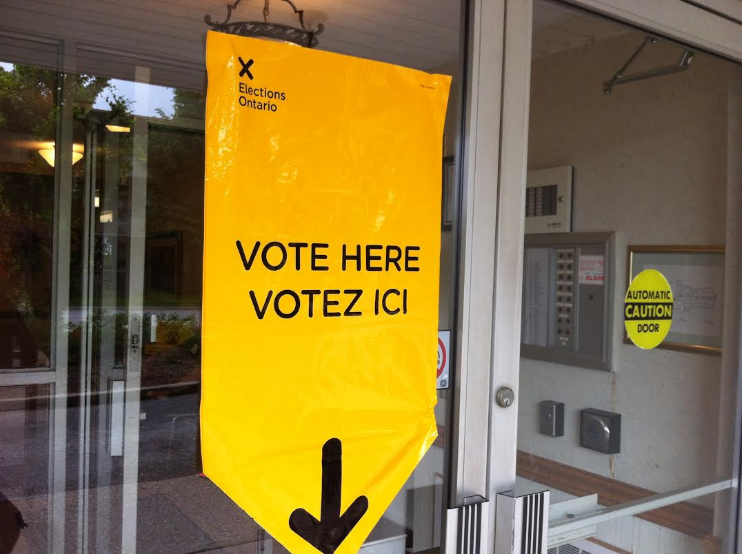 Polling station in Chatham. June 12, 2014.
