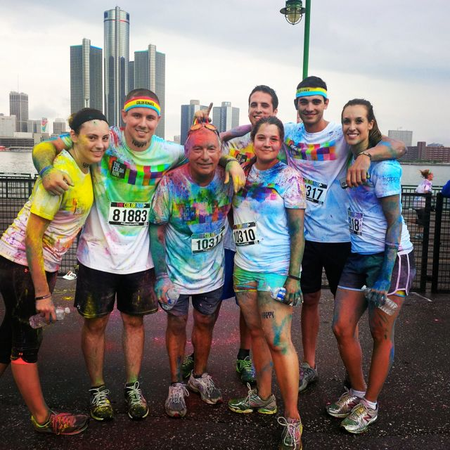 A group of runners after the Color Run in Windsor, July 19, 2014. (Photo courtesy of Sarah Chittle via the Blackburn Radio App)