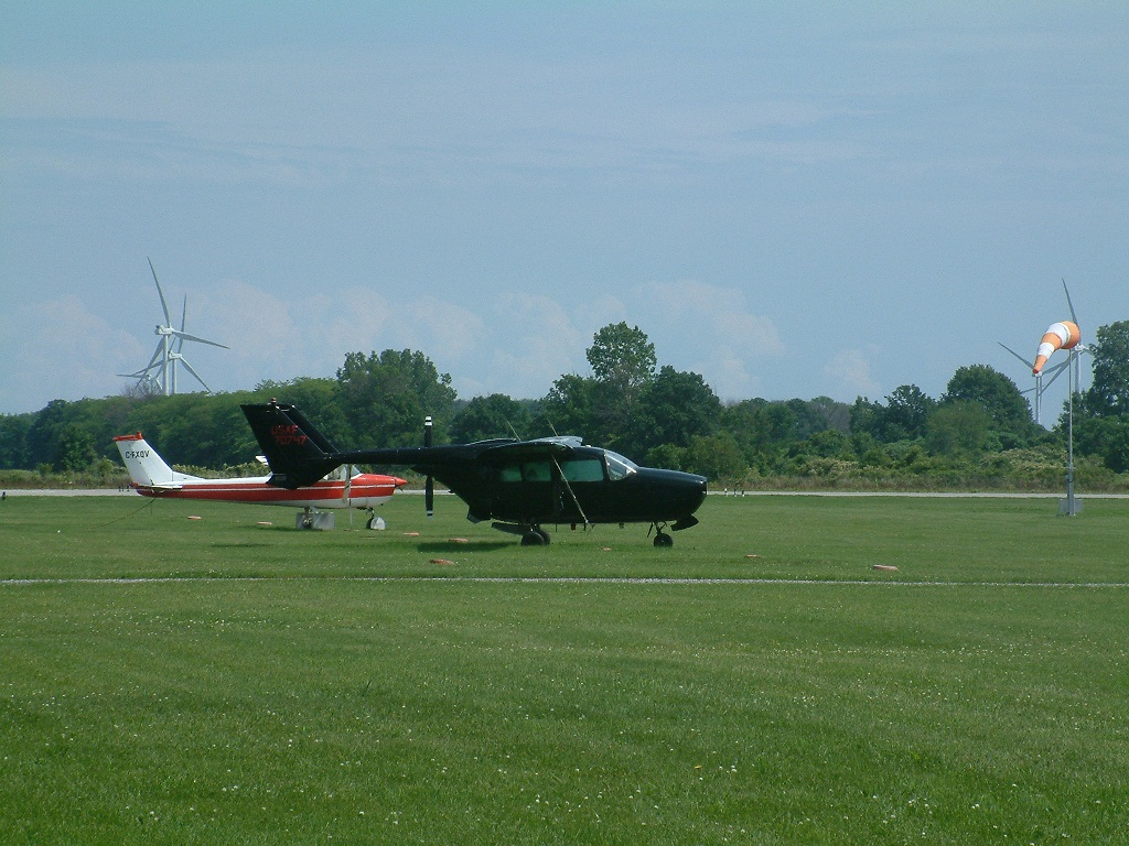 Turbines near Chatham-Kent Municipal Airport (Photo by Trevor Thompson)
