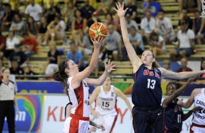 Chatham's Bridget Carleton competing for Team Canada at the U17 FIBA World Championships in 2014. (Photo courtesy of FIBA)