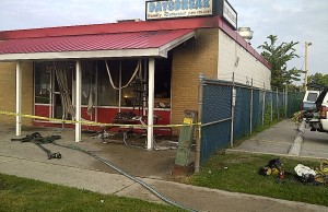 Daysbreak Restaurant Fire. Photo submitted by Sarnia Fire Rescue Services.