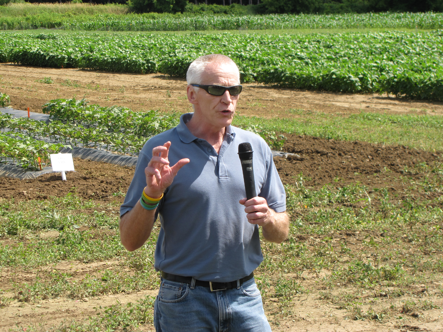 Dr. Michael Brownbridge at Ridgetown College Vegetable Research Open House - July 2014