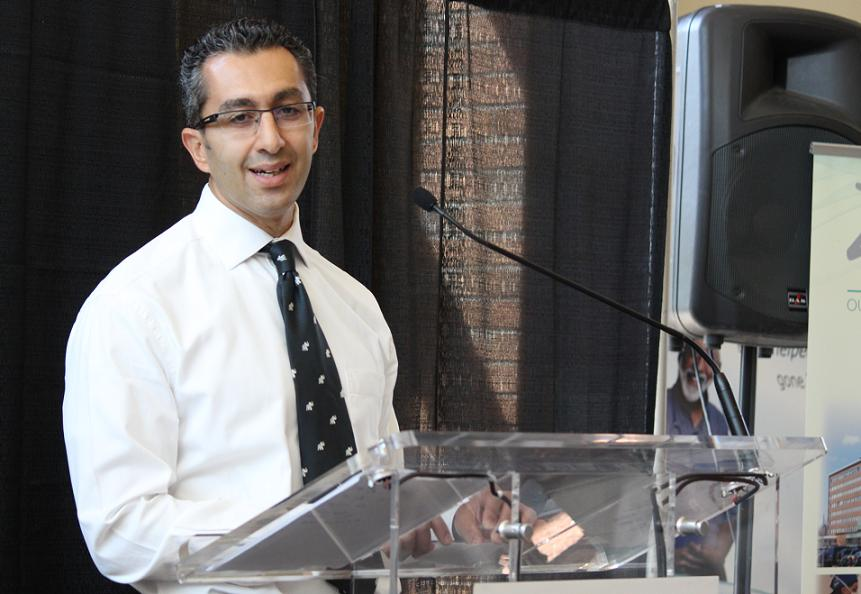 Dr. Roland Mikhail at Windsor Regional Hospital's Ouellette Campus, July 25, 2014. (photo by Mike Vlasveld)