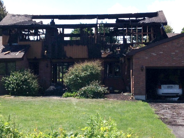 Egremont Rd. home gutted by fire July 11, 2014 (BlackburnNews.com photo by Jake Jeffrey)