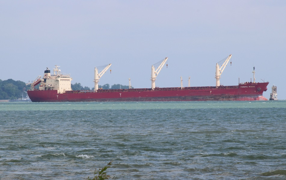 UPDATE: Freighter Aground Near River