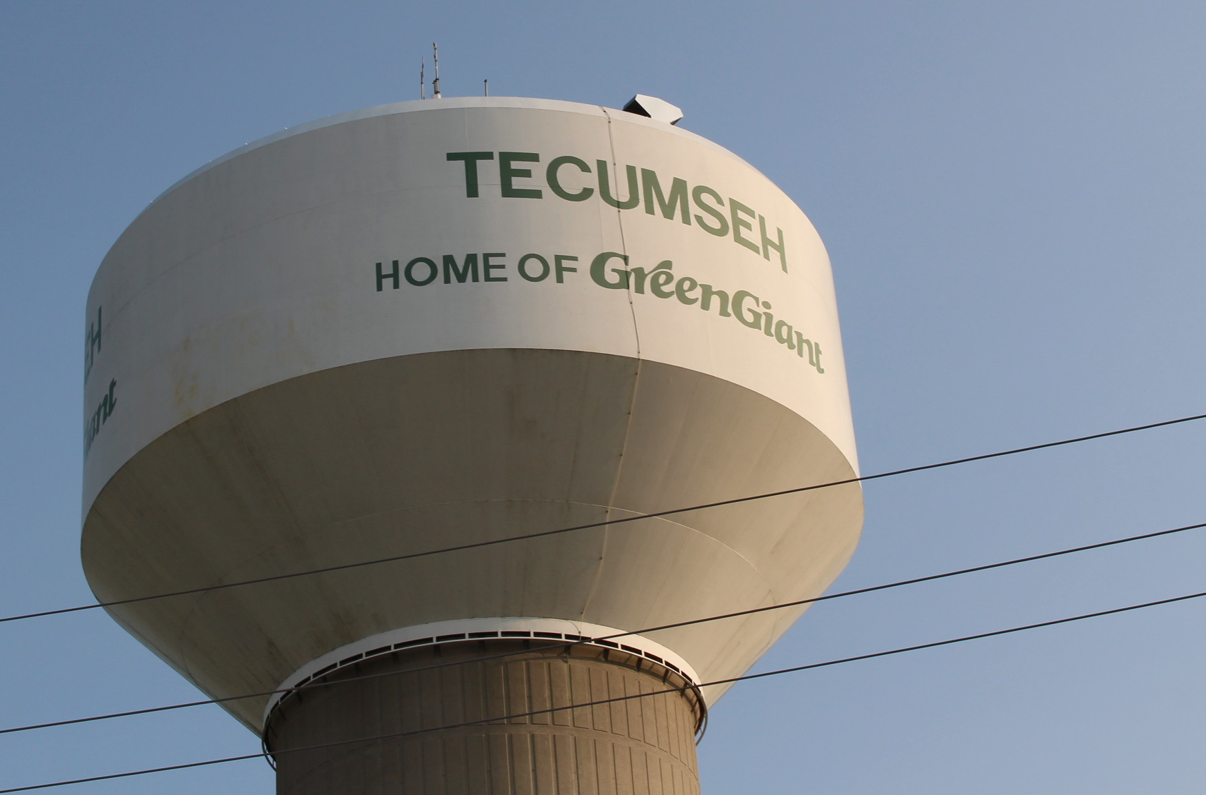 The Tecumseh water tower. (Photo by Adelle Loiselle.)