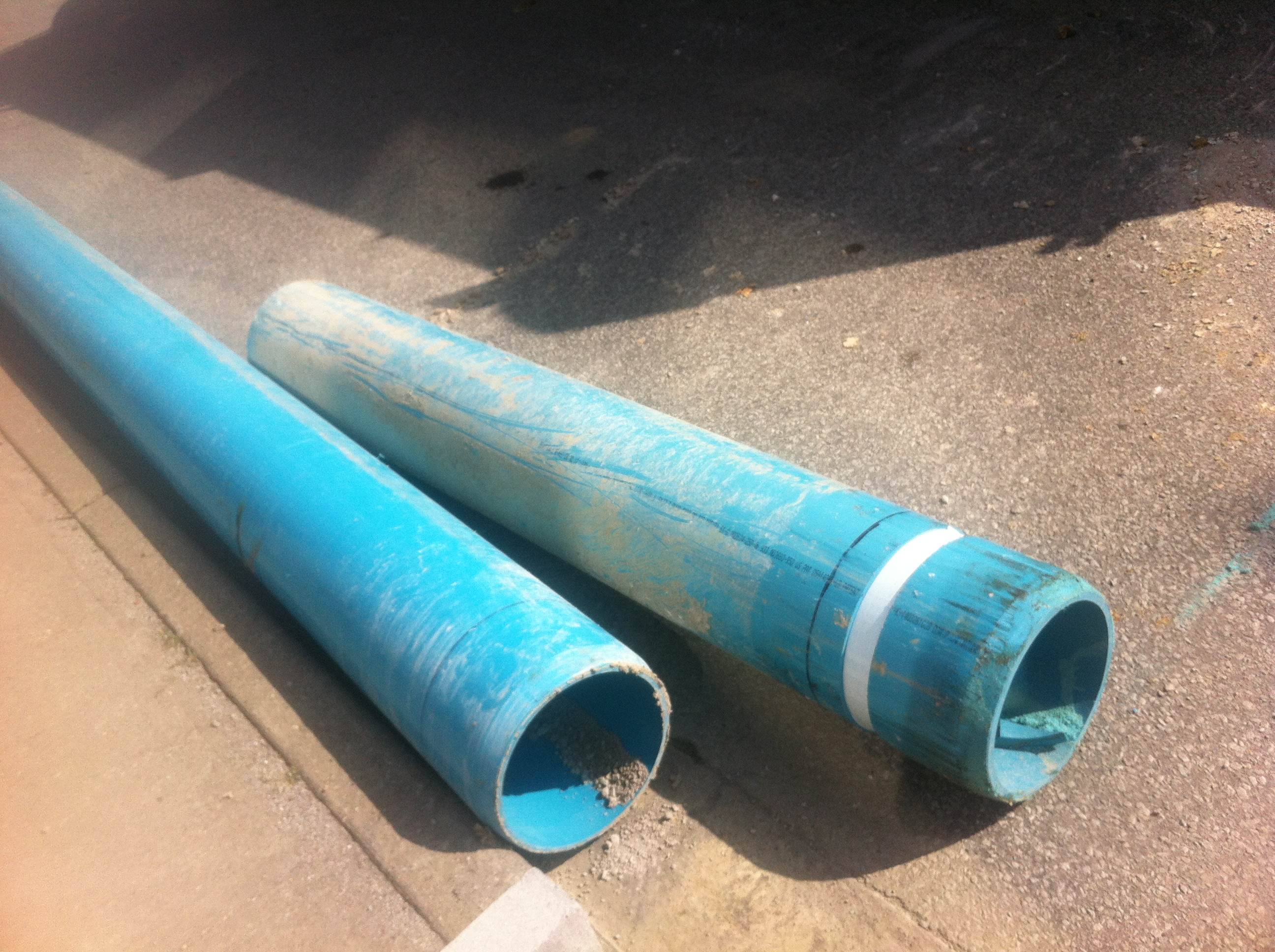 Watermain pipes. (Photo by Adelle Loiselle.)