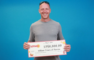 William Friars of Harrow won $250,000 on Lottario. (Photo courtesy OLG)