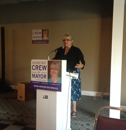 Marjorie Crew Mayoral Campaign Launch 2014