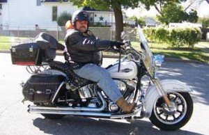 Harley-Davidson motorcycle stolen July 17, 2014. Photo submitted by Sarnia Police