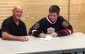Sarnia Legionnaires sign Tecumseh, Michigan native Cameron Clarke July 24, 2014. BlackburnNews.com (Photo by Josh Boyce)