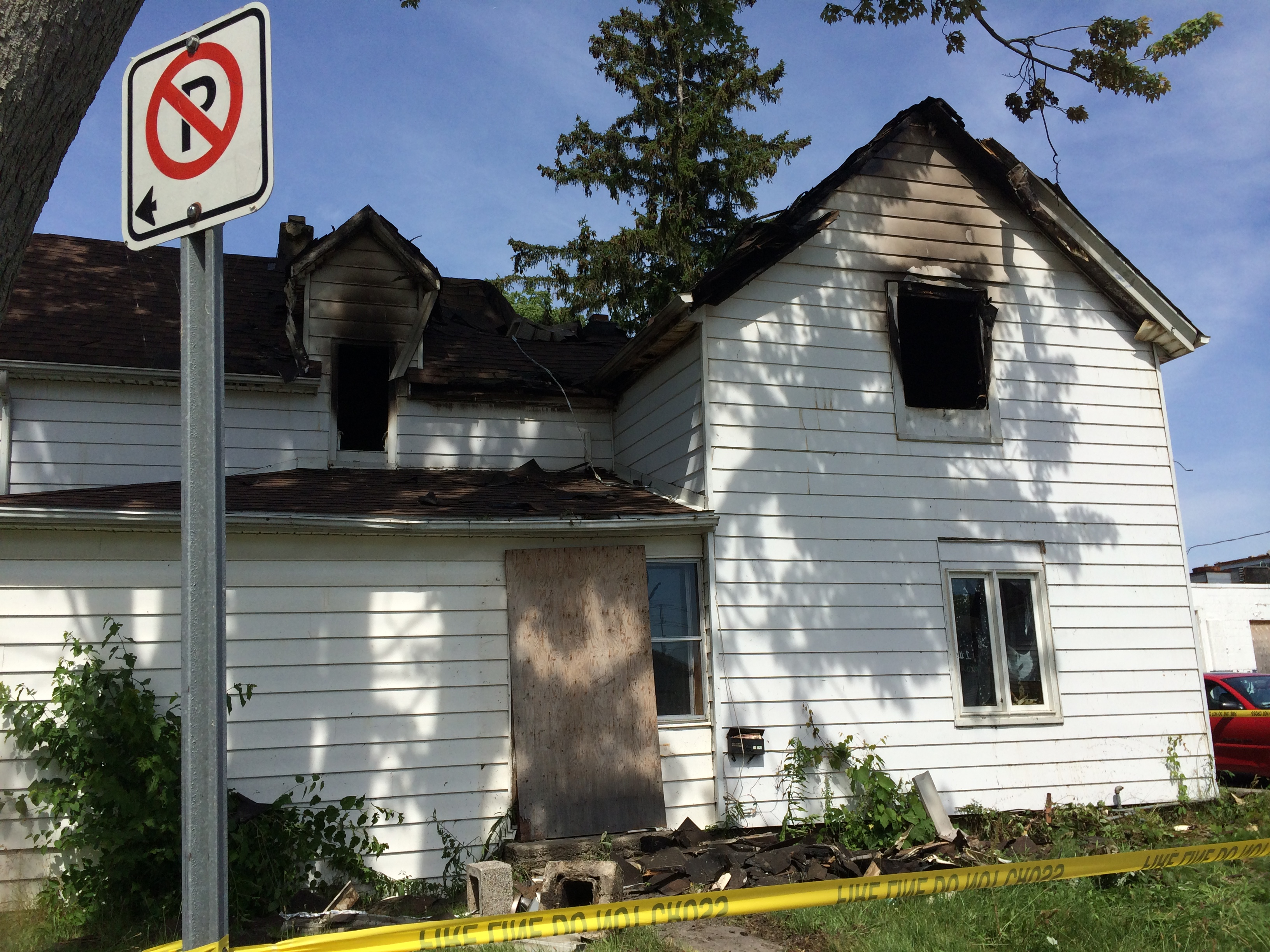 Burnt out home on Victoria St. in Leamington on July 5, 2014. (Photo by Ricardo Veneza)