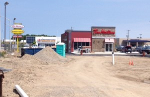 Commercial development takes shape along Lambton Mall Rd. in Sarnia. BlackburnNews.com (Photo by Jake Jeffrey)