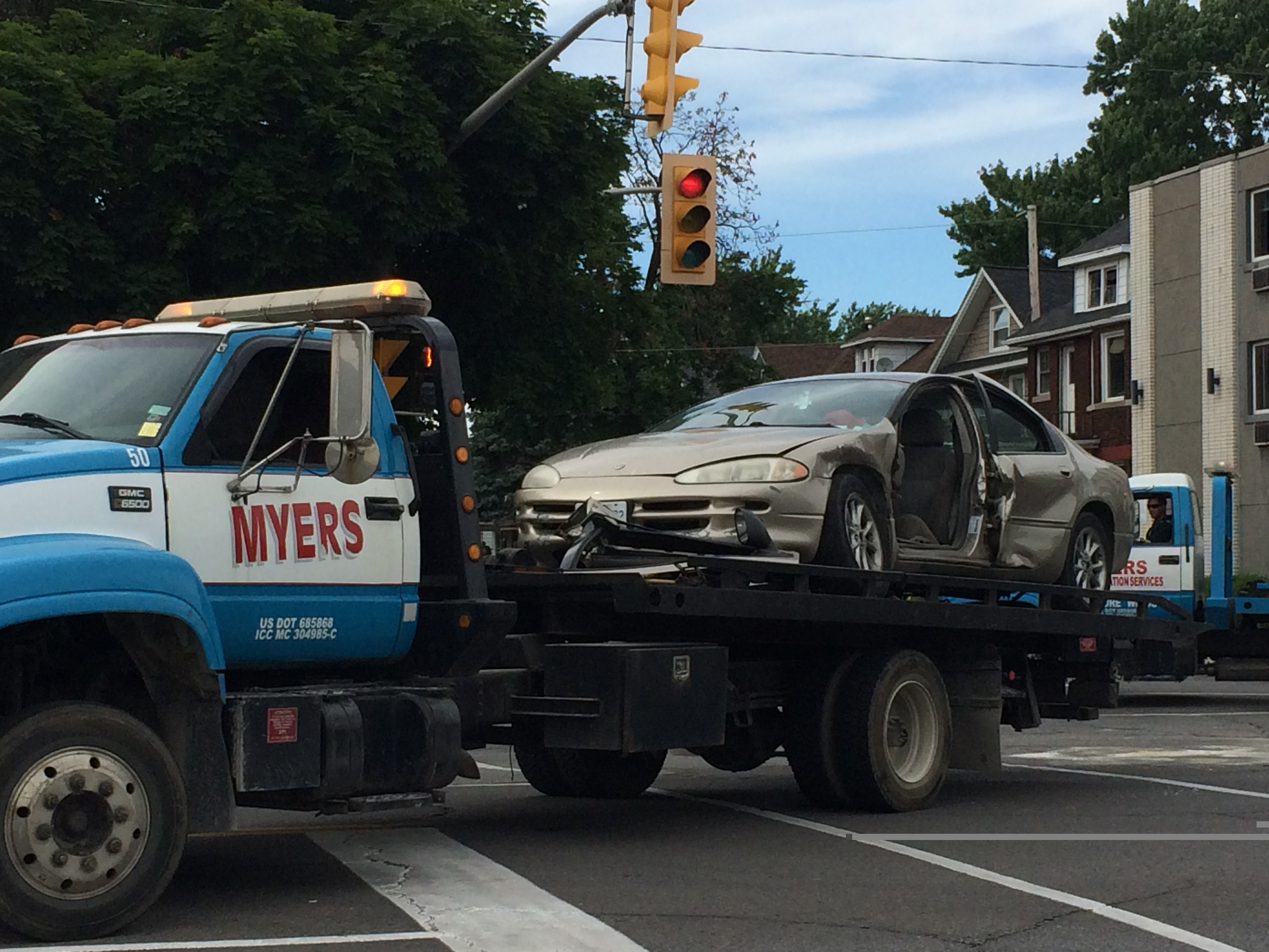 A driver has been charged following a two-vehicle crash at the intersection of University Ave. and Campbell Ave., July 5, 2014. (Photo by Ricardo Veneza)
