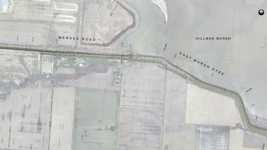 Drawings from a July 21, 2014 council report outlining needed repairs for East Marsh Dyke in Leamington. (BlackburnNews.com file photo)