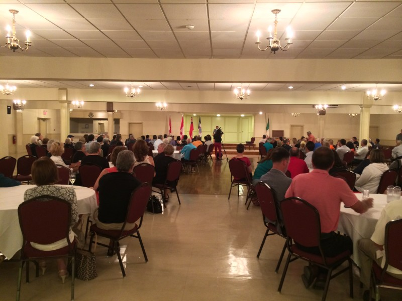 About 150 people attend the Amherstburg Mayor Wayne Hurst's state of the town address at the Verdi Club on July 9, 2014. (Photo by Ricardo Veneza)
