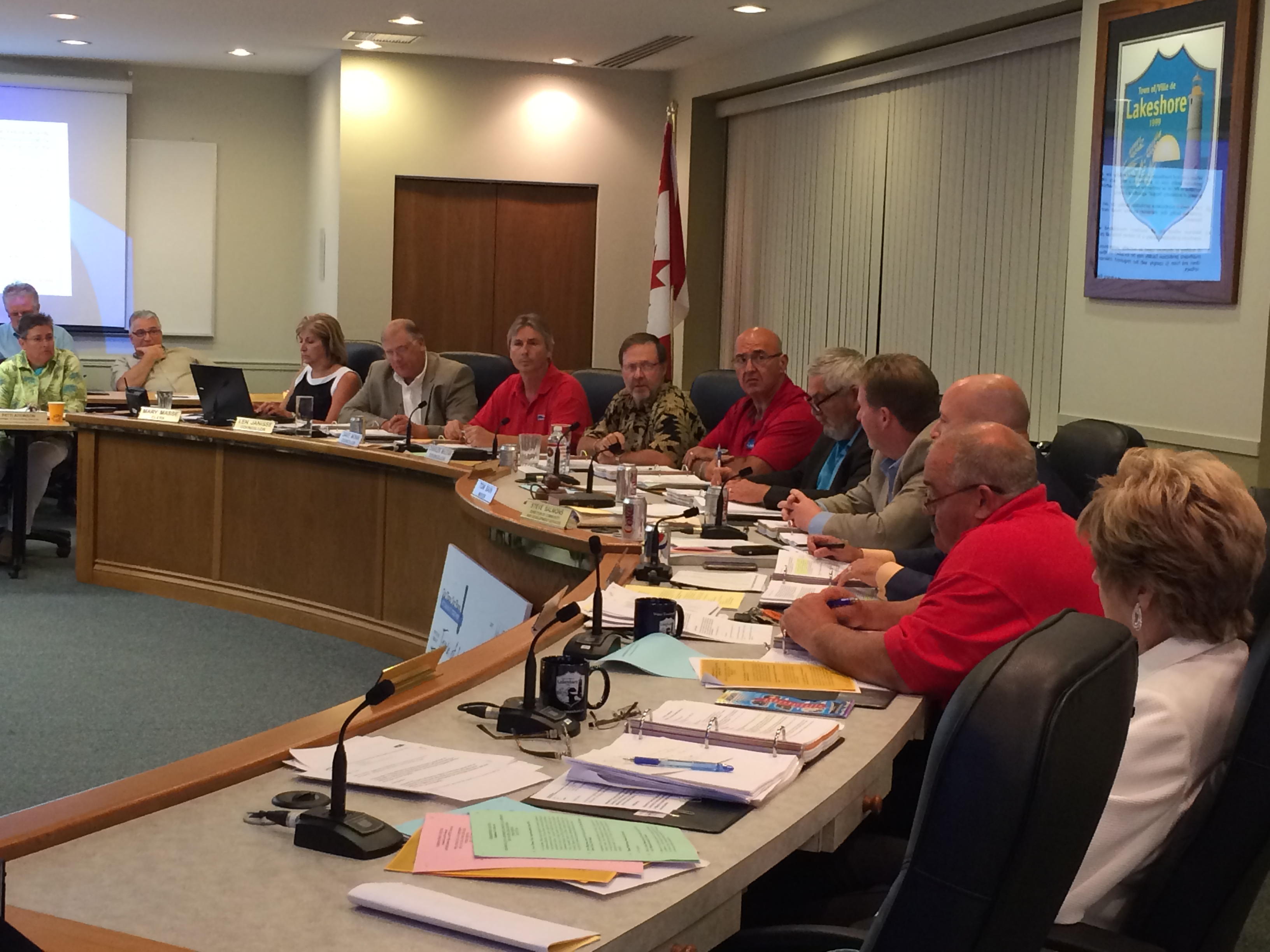 Lakeshore council meets for its regular meeting on July 15, 2014. (Photo by Ricardo Veneza)
