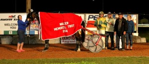 Angies Lucky Star sets new track record at Hanover Raceway. July 19th, 2014. (Photo by Stacey Wight Photography).