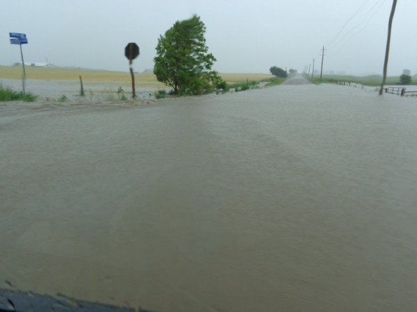 Highway Flooding between Seaforth and Dublin, July 8, 2014 (photo courtesy of Edie Taylor)
