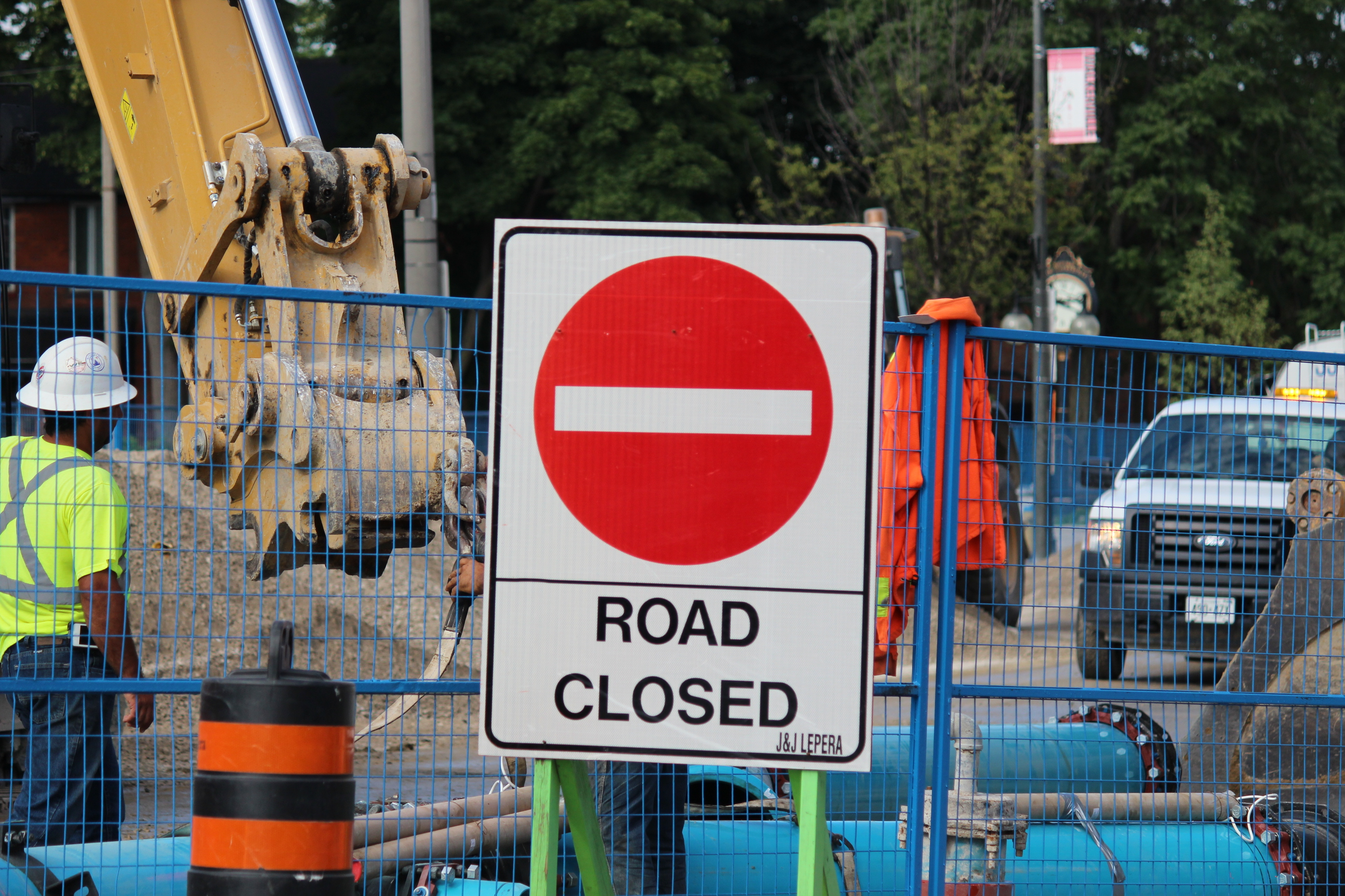 Wyandotte St. E. is closed between Devonshire Rd. and Gladstone Ave. (Photo by Adelle Loiselle.)