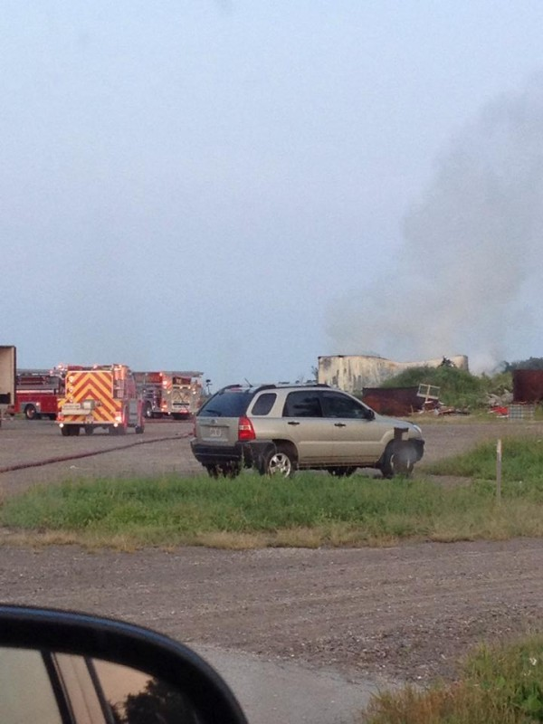 Morning fire at Smith Packing in Seaforth. July 18th, 2014. (Photo Via Facebook by Johnny Rutledge)
