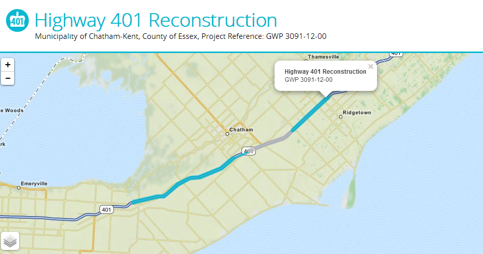 Photo courtesy of http://hwy401reconstruction.ca/