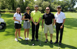 The winning foursome at the 9th Annual CKHA's 9th Annual Pro/Am Golf Tournament. From left to right, Tina Cousineau, Colette Giroux, Taylor Booth CPGA Golf Pro Oxford Golf & Country Club, Mike Giroux and Phil McIntyre. (Photo courtesy of the Foundation of the CKHA)