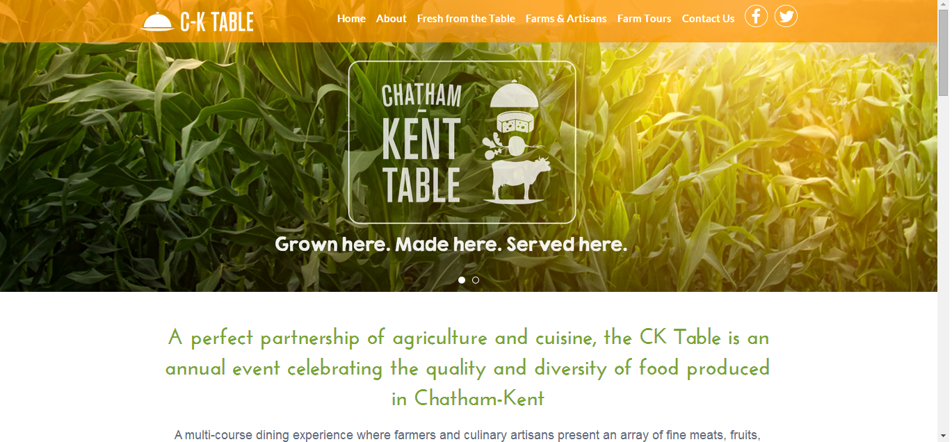 CK Table home page. Aug 6 2014. (Photo courtesy of cktable.ca)