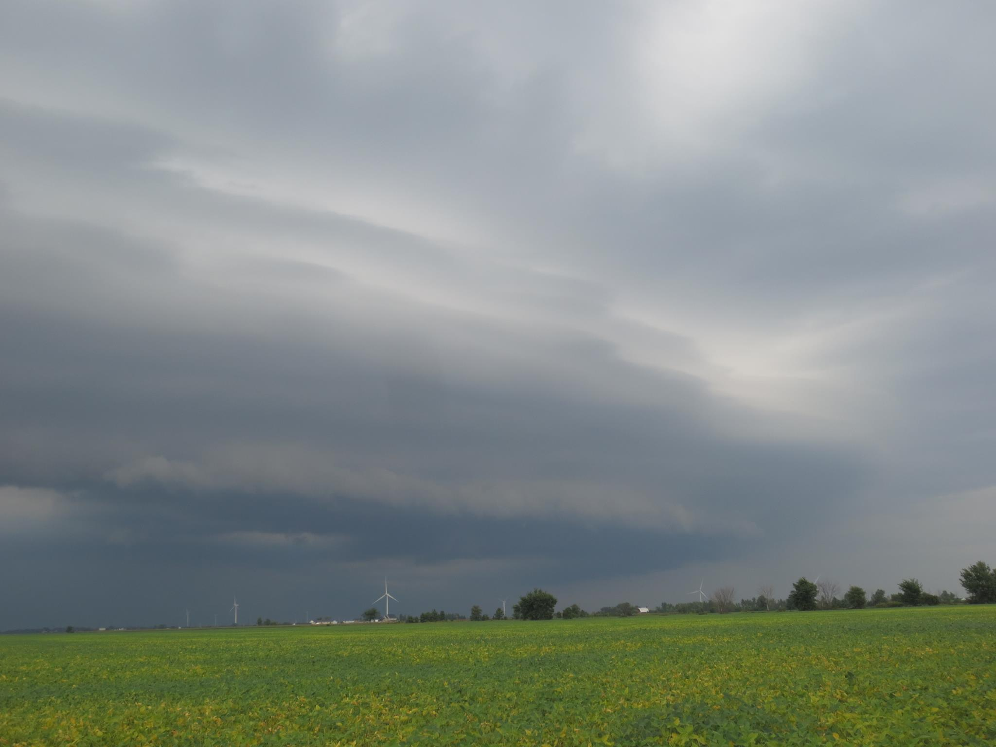 A photo of storm clouds along County Rd. 8 in Essex County on August 26, 2014. (Photo courtesy Monique Thibodeau via BlackburnNews Windsor-Essex Facebook)