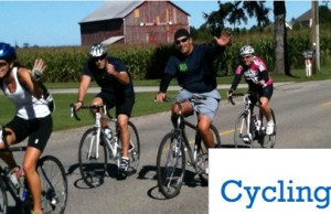 Cycling for Hope in an effort to raise money to fight cancer.