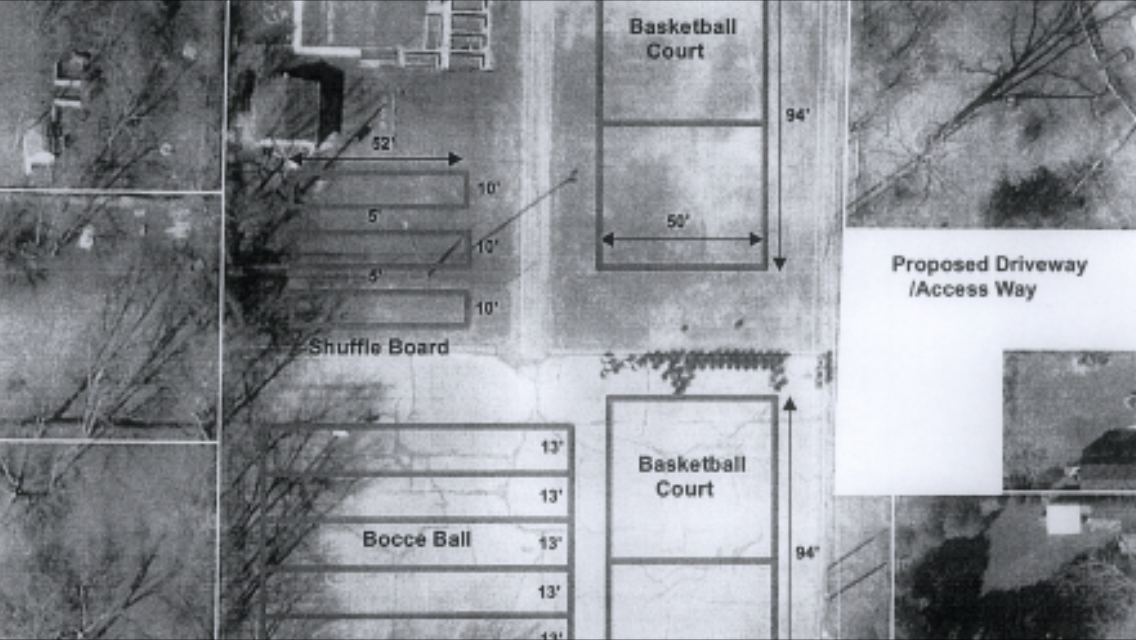 A draft proposal for the planned Lions Hall Recreation Fields in Kingsville found in the August 11, 2014 agenda for the regular meeting of Kingsville Council. (Still captured by Ricardo Veneza)