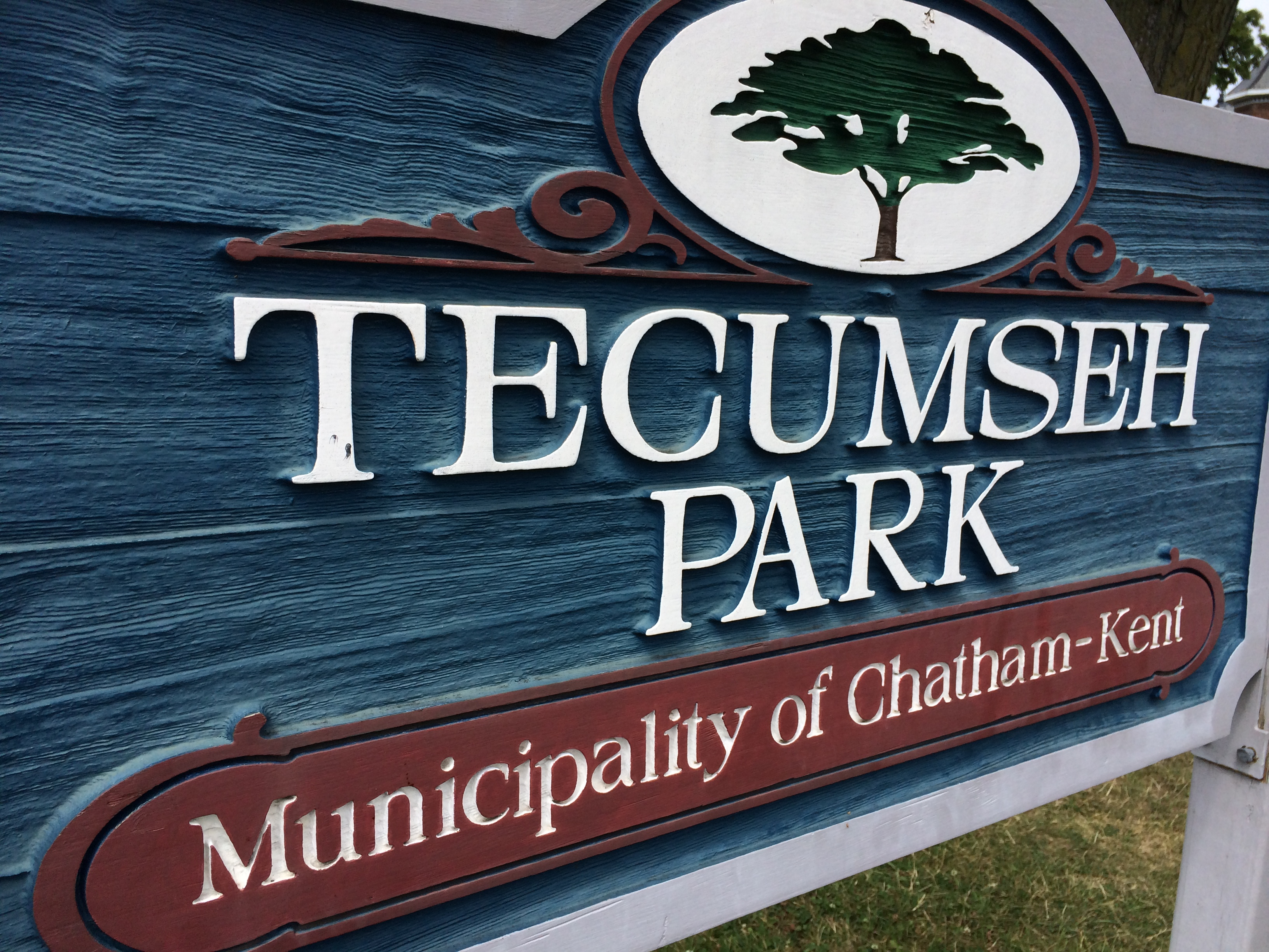 The Tecumseh Park sign on August 23, 2014. (Photo by Ricardo Veneza)