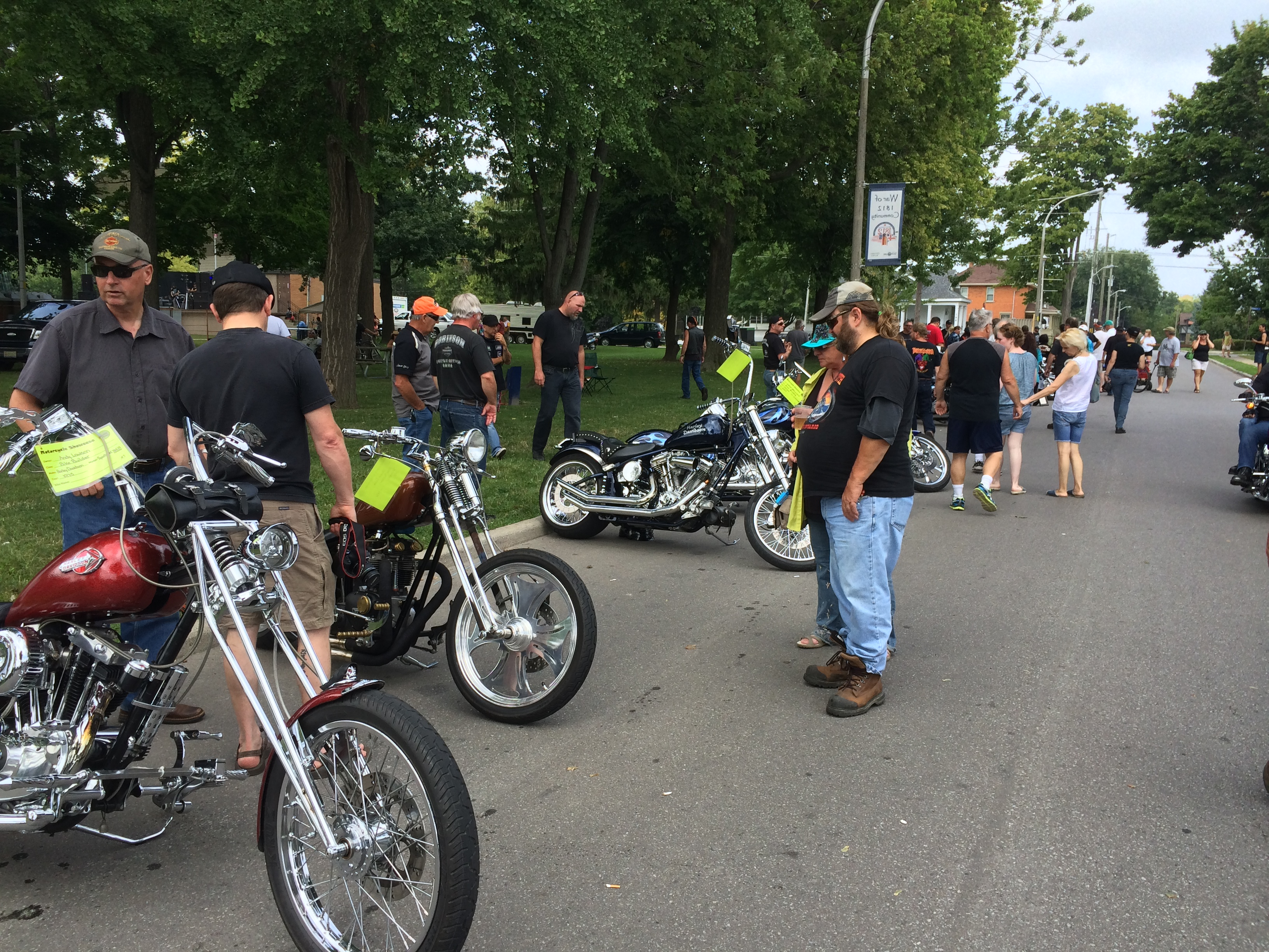 Motorcycles, food and music were all on display at Chatham-Kent's annual BikeFest held at Tecumseh Park in downtown Chatham on August 23, 2014. (Photo by Ricardo Veneza)