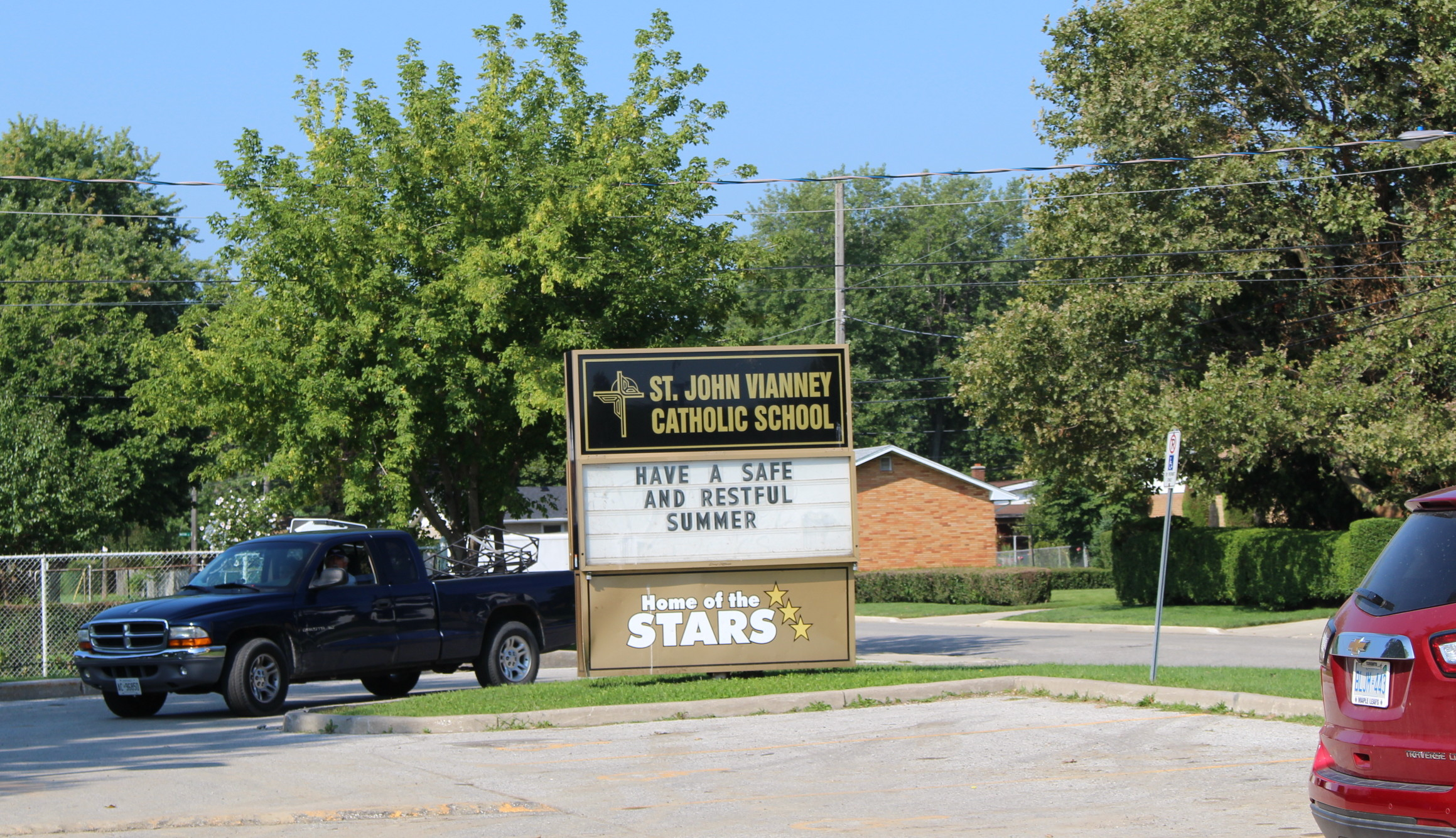 St. John Vianney Catholic School in Windsor, August 25 2014. Photo by Adelle Loiselle.)