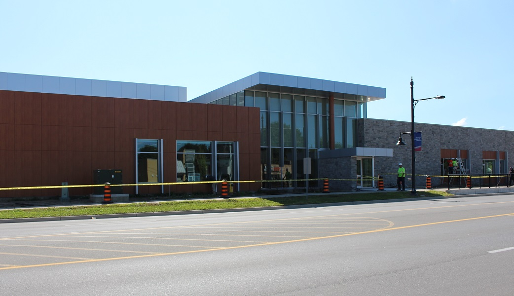 LaSalle Civic Centre nearing completion, August 14, 2014. (Photo by Maureen Revait)