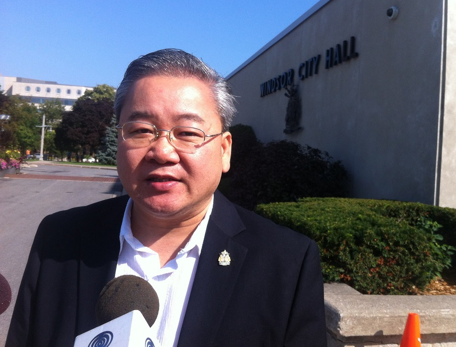 Henry Lau becomes the eighth candidate to file nomination papers for the Mayor of Windsor. (Photo by Maureen Revait)