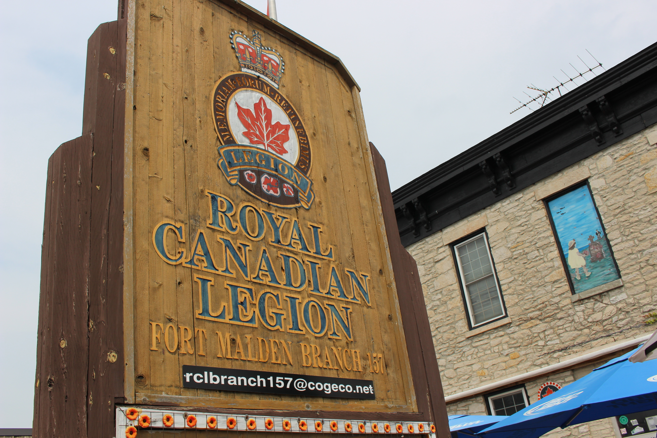The Royal Canadian Legion Branch 157 in Amherstburg. (Photo by Adelle Loiselle.)