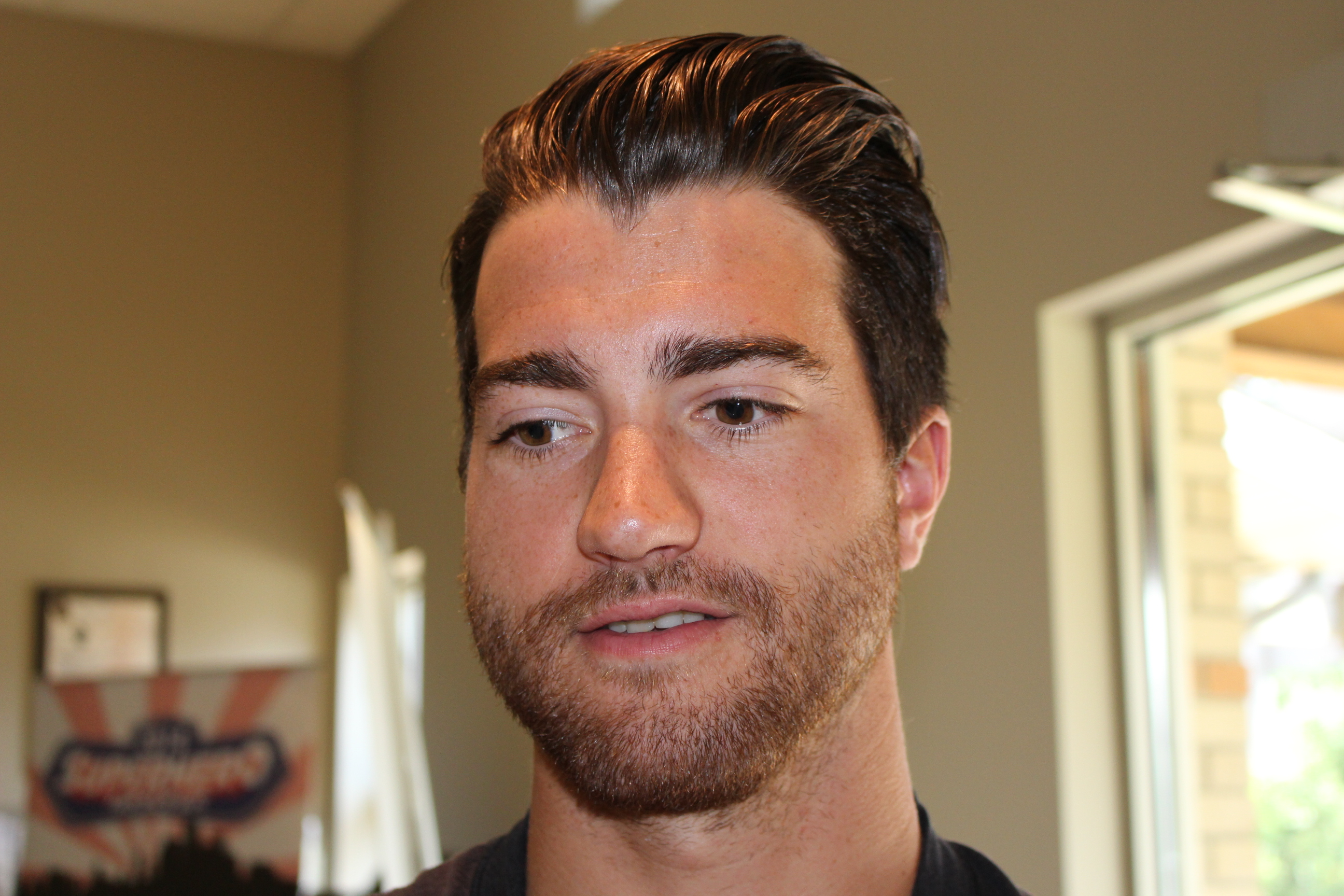 Calgary Flames defenceman T.J. Brodie. (Photo by Adelle Loiselle.)