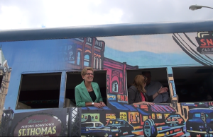 Premier Wynne at an announcement in St. Thomas. Aug 18 2014. (Photo by Trevor Thompson)
