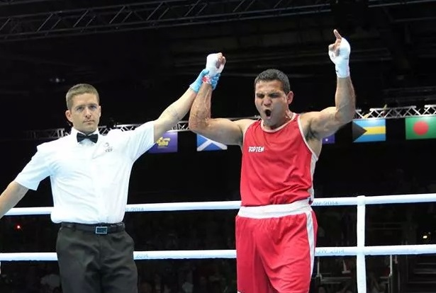 Windsor native Samir El-Mais won gold in the men's 91 kg heavyweight boxing division at the Commonwealth Games in Glasgow, Scotland. (Photo courtesy of Samir El-Mais)
