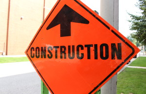 A construction ahead sign. (Photo by Adelle Loiselle.)