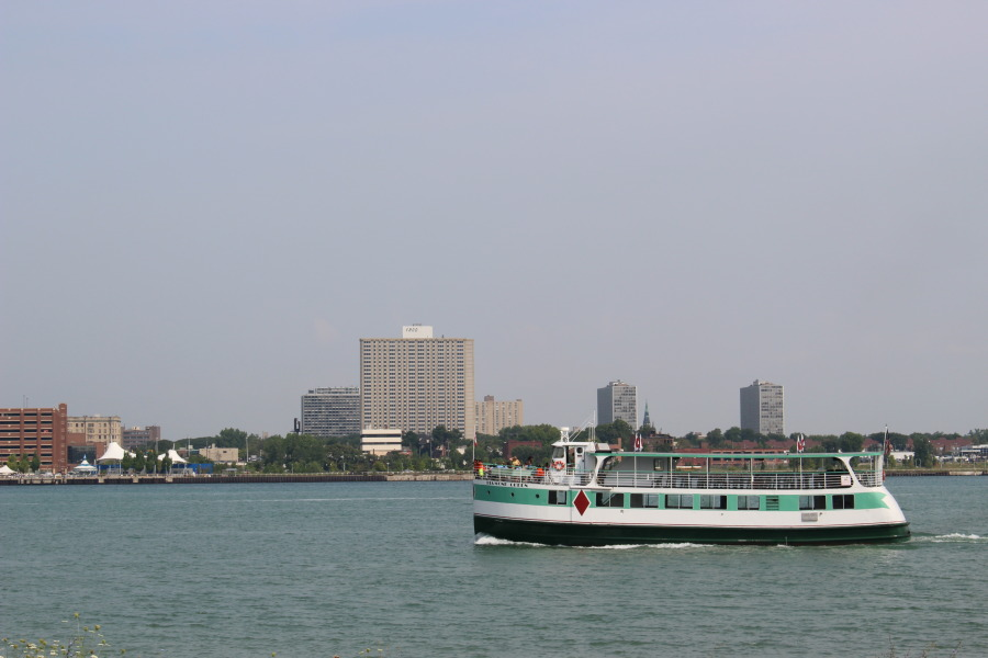 A cruise ship on the Detroit River. (Photo by Adelle Loiselle.)
