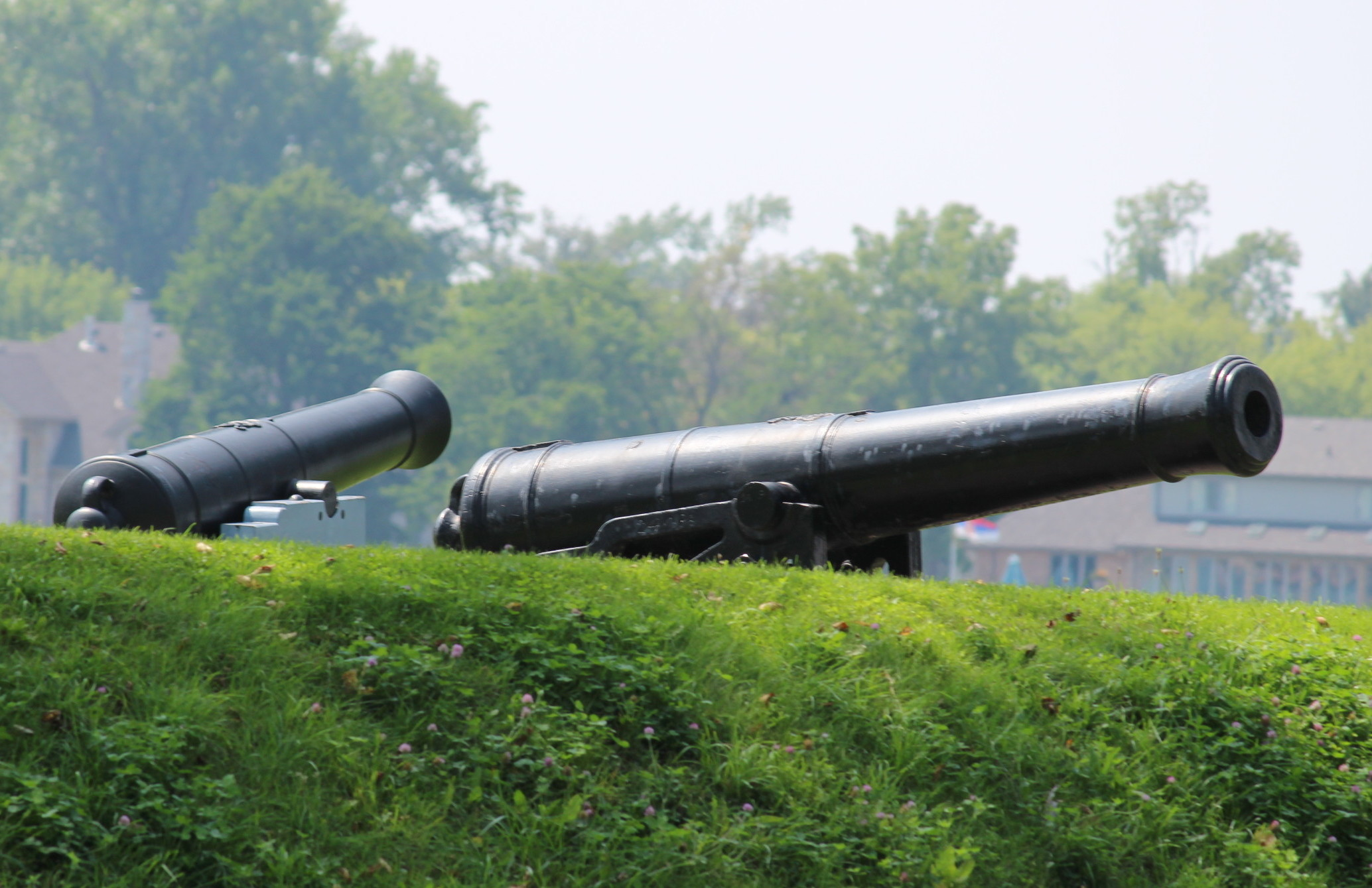 Canons at Fort Malden in Amherstburg. (Photo by Adelle Loiselle.)