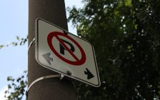 A no parking sign. (Photo by Adelle Loiselle.)