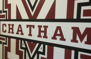 The Chatham Maroons crest found at Chatham Memorial Arena. Photo taken August 17, 2014. (Photo by Ricardo Veneza)