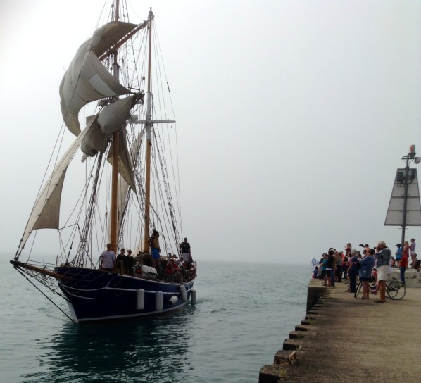 Two tall ships sail into Kincardine for Kincardine's first Marine Heritage Festival. August 22, 2014. (Photo by: Ken Kilpatrick)