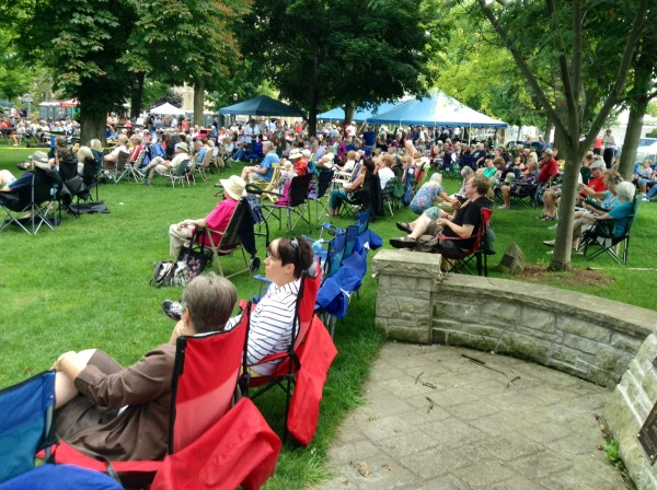 Hundreds of people attended Kincardine's Gathering of the Bands at Victoria Park. August 23, 2014. (Photo by: Ken Kilpatrick)