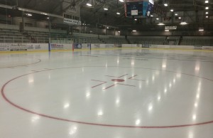 The ice at the Chatham Memorial Arena. Photo taken August 17, 2014. (Photo by Ricardo Veneza)